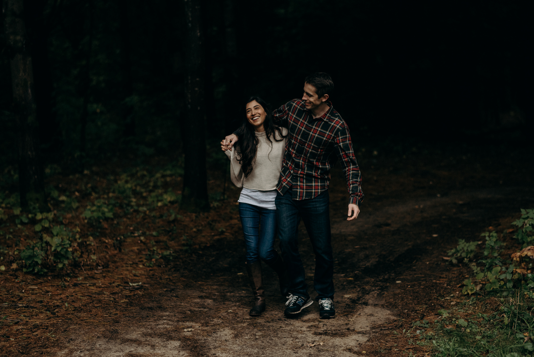 fall engagement shoot at Whispering Springs