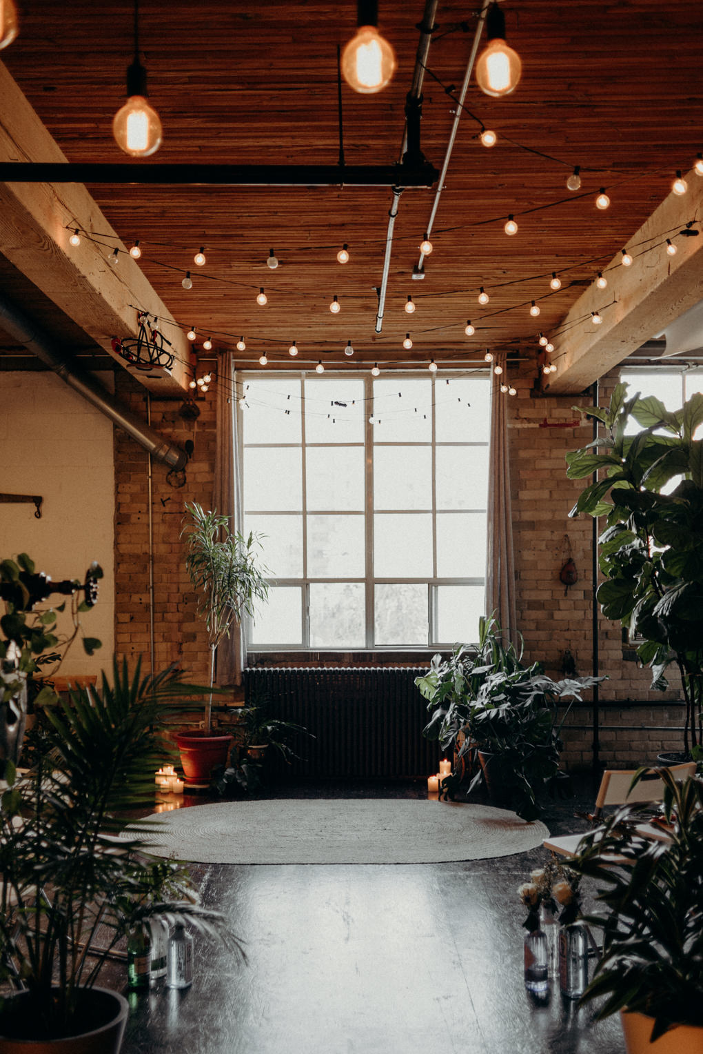 loft ceremony surrounded by plants