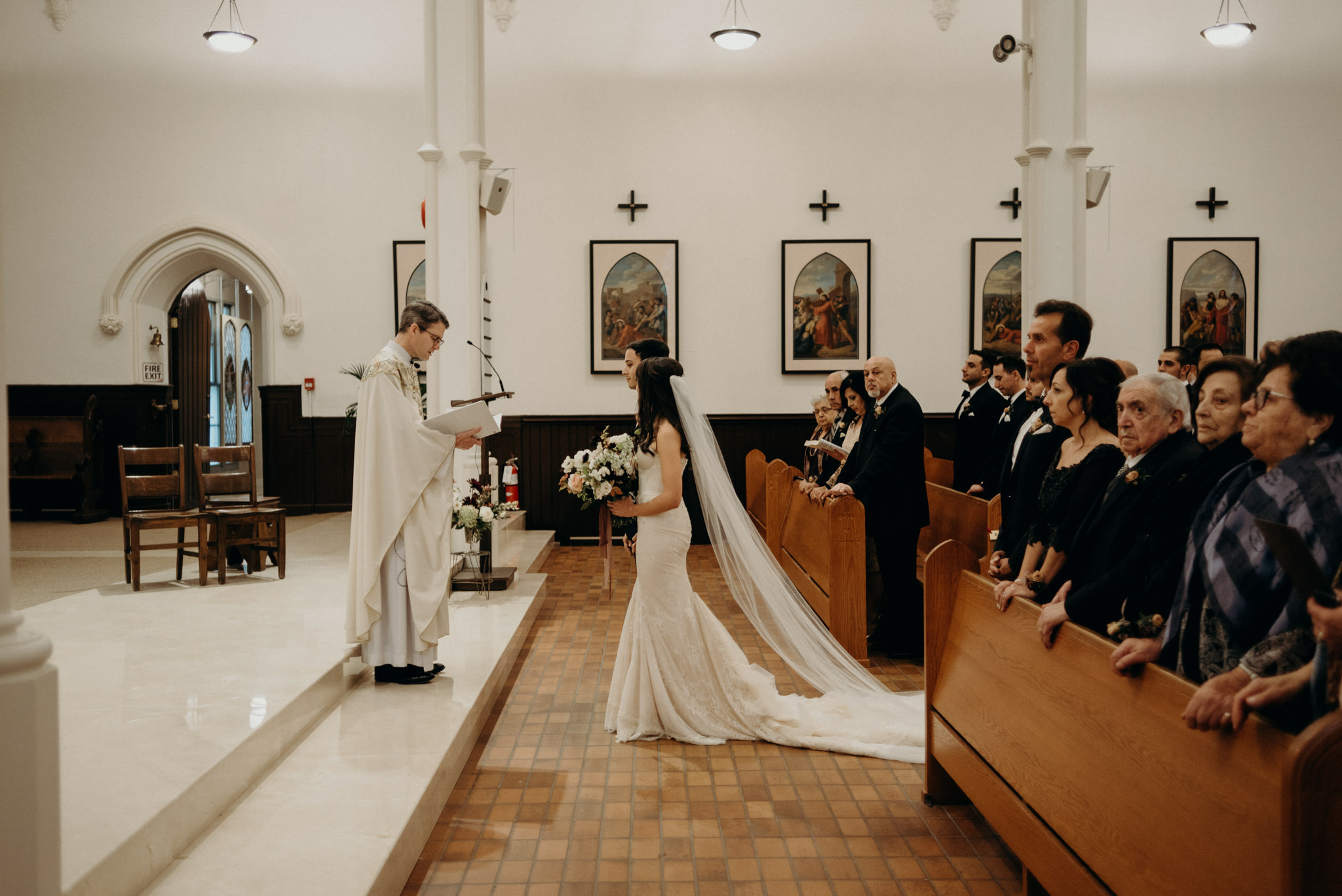 St Basil's Church wedding ceremony