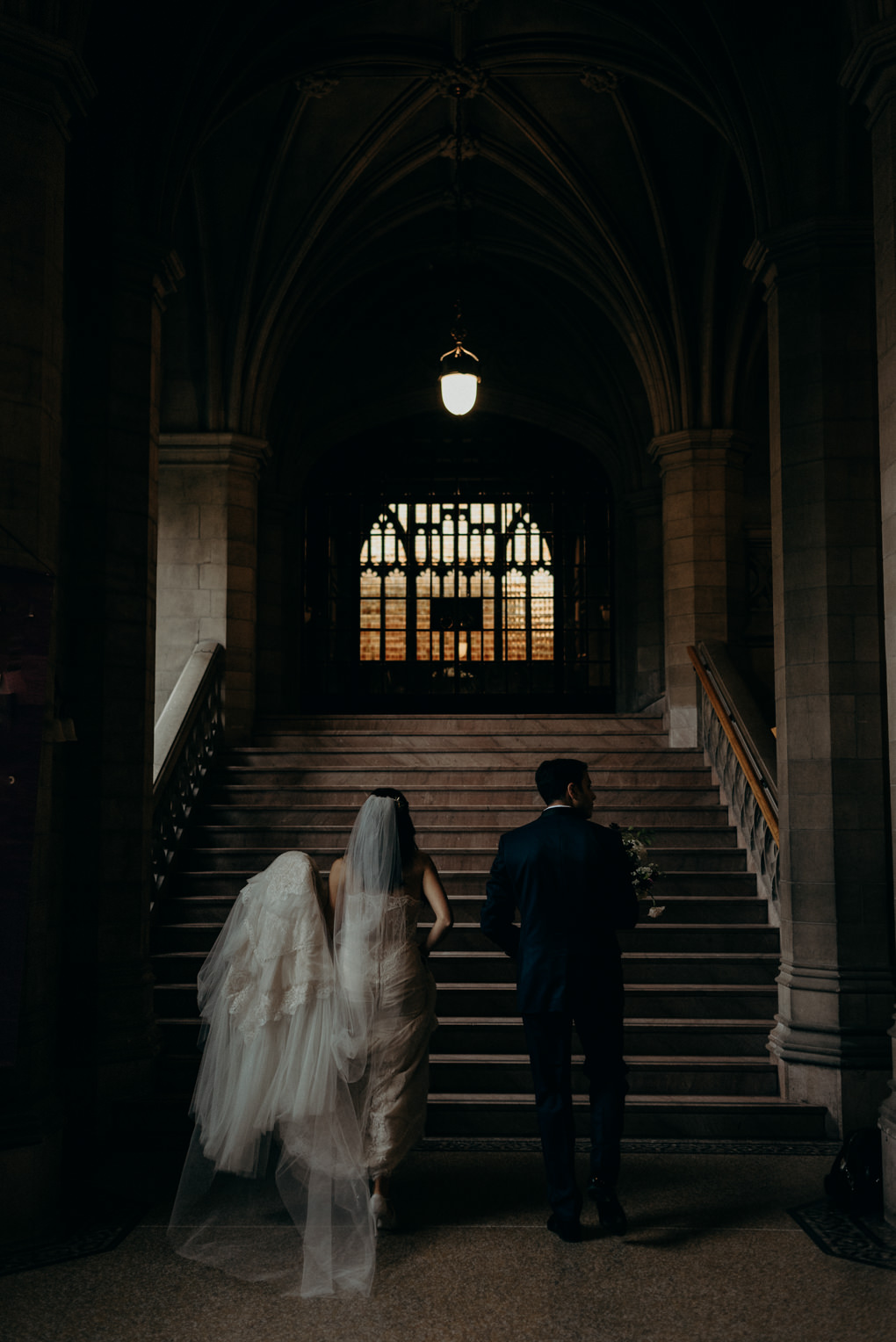 Wedding portraits at Knox College U of T