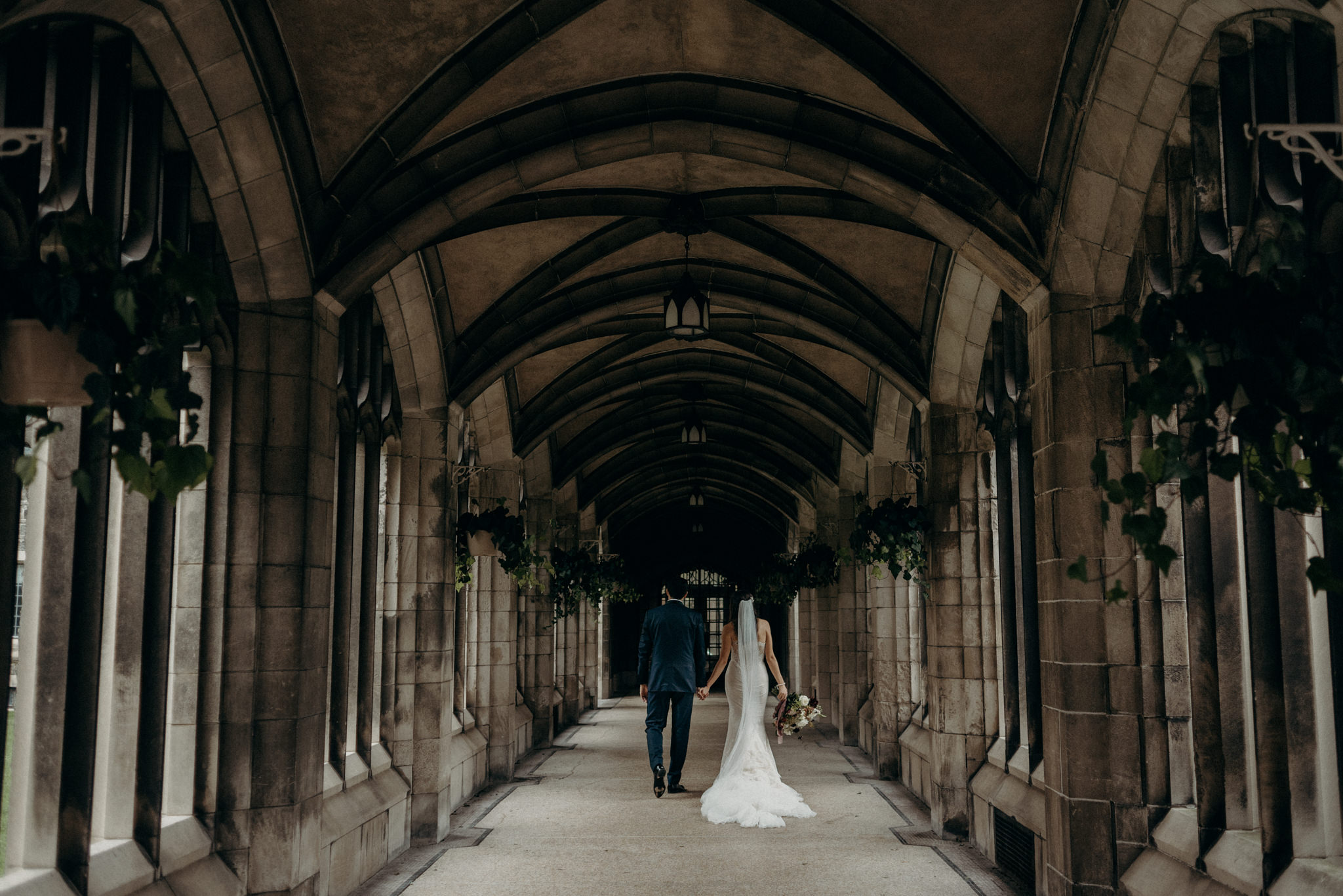 Romantic wedding portraits at Knox College U of T