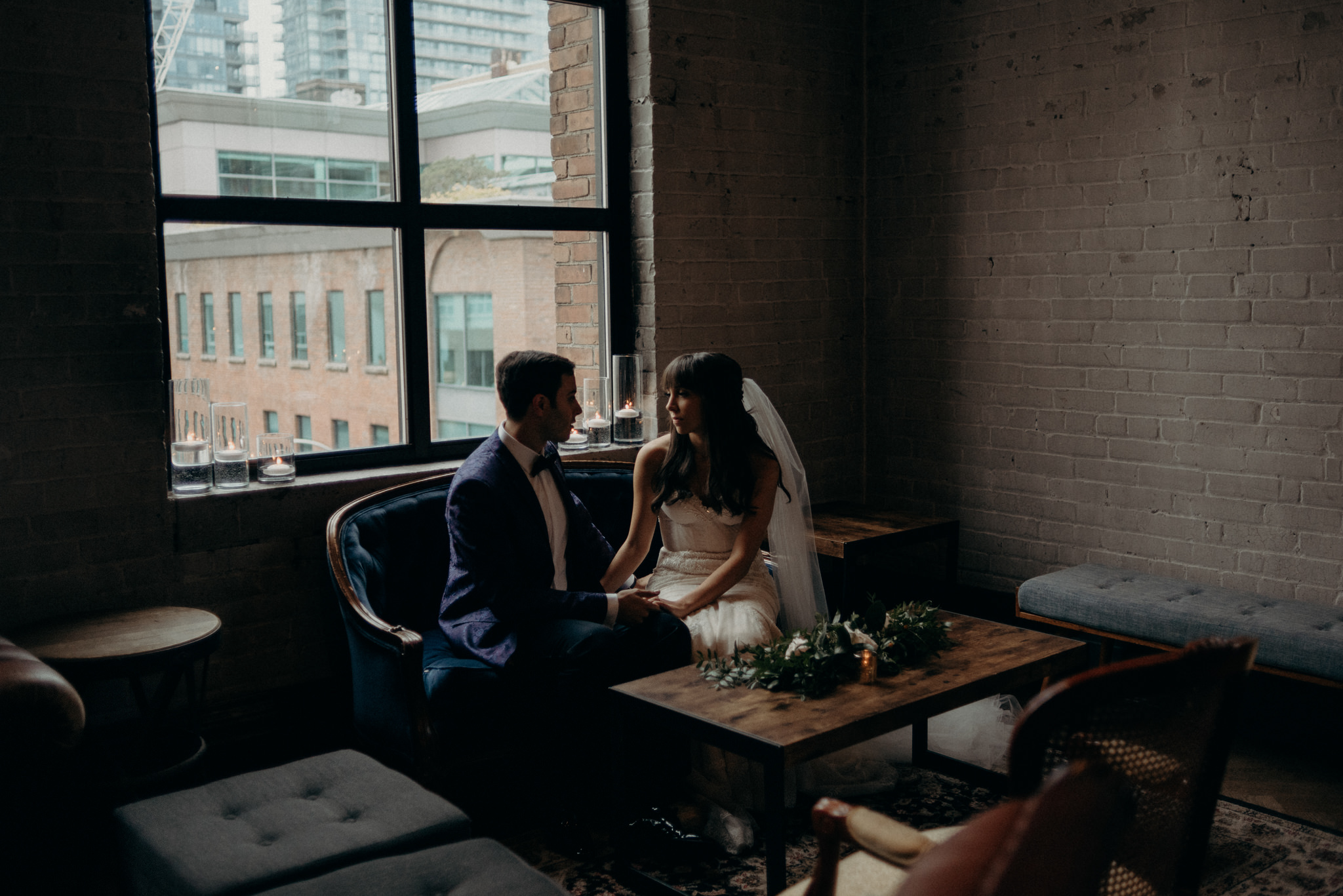 Romantic Storys Building wedding portraits