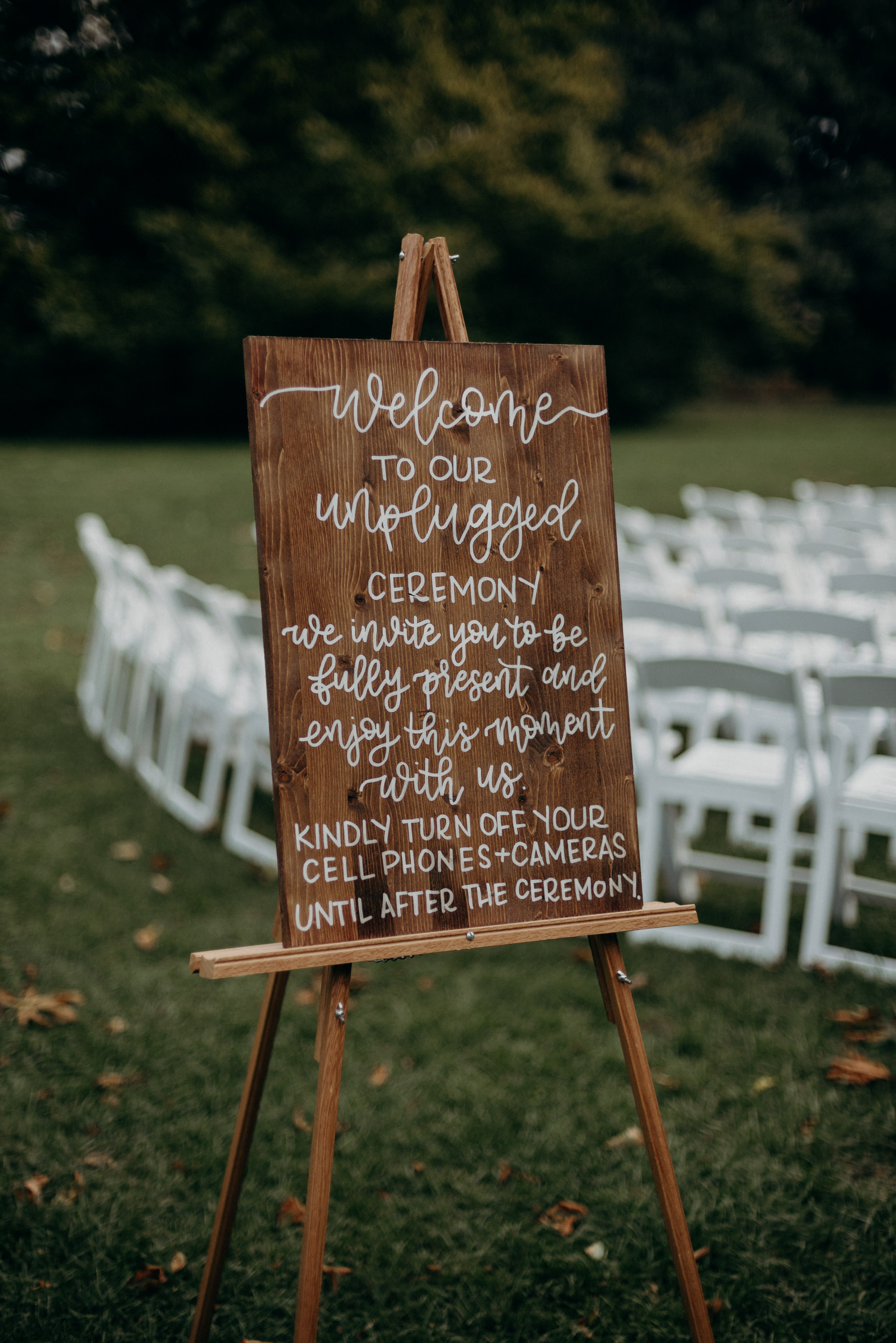 calligraphy sign at wedding ceremony