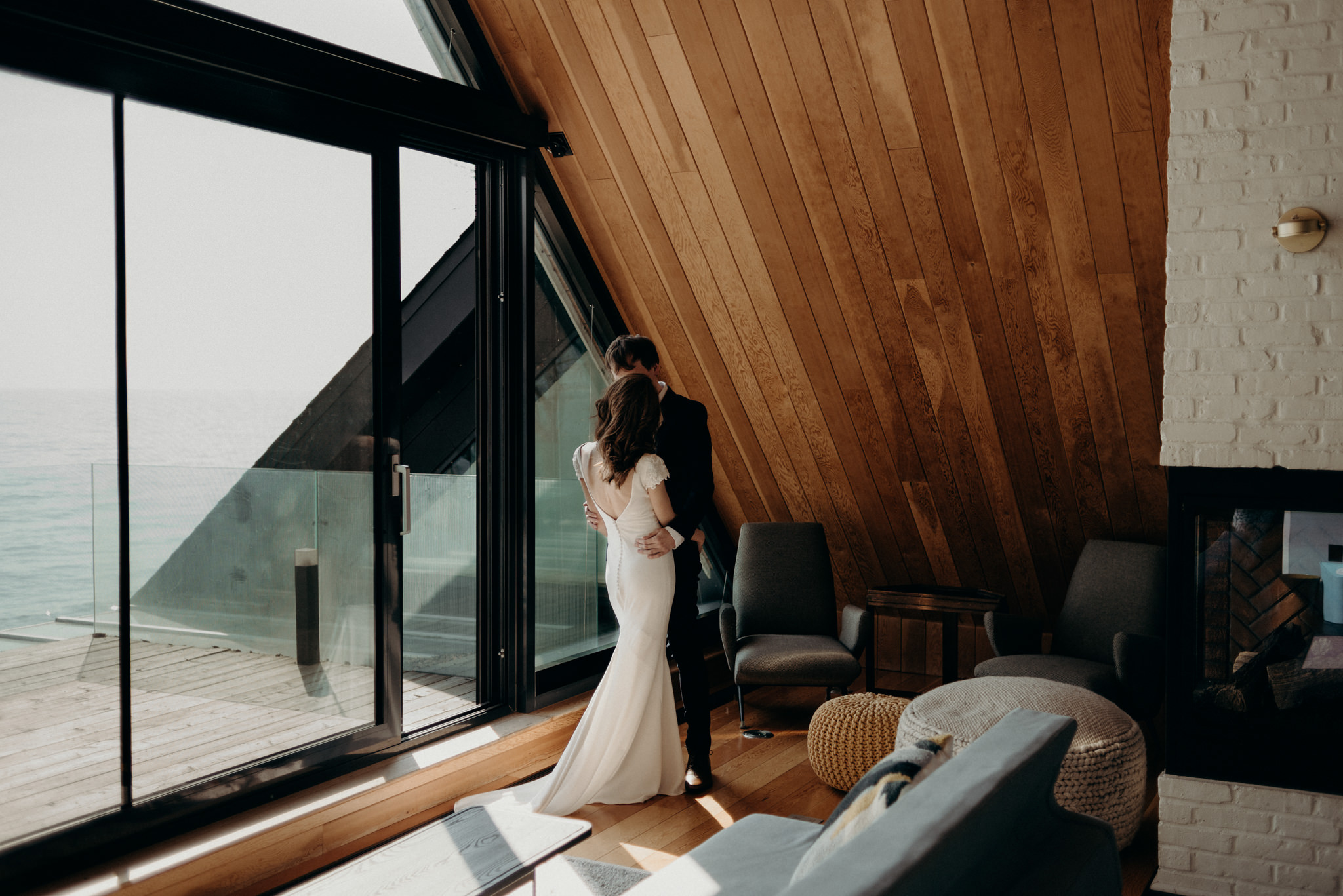 Drake Devonshire Elopement, wedding photos in owner's suite