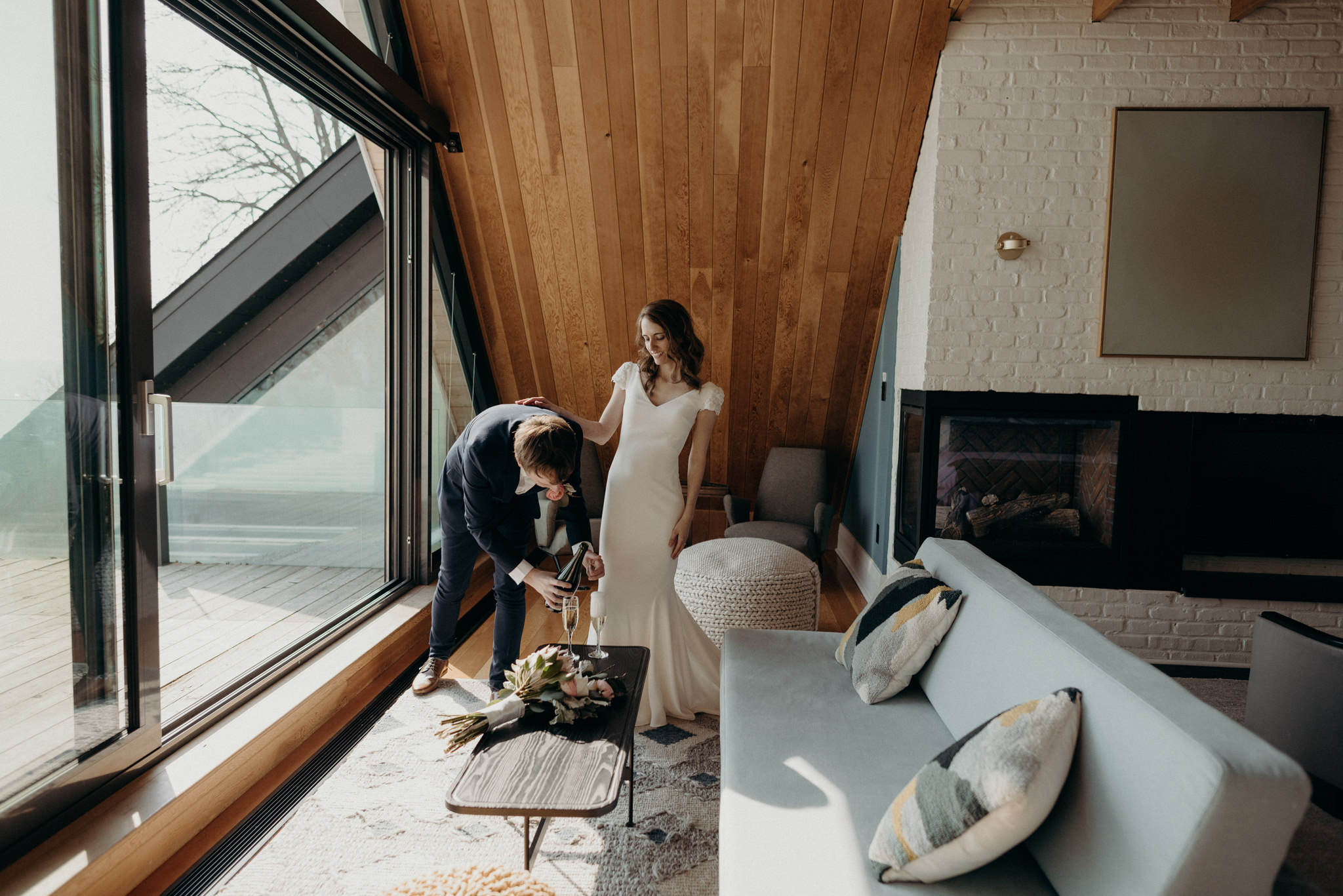 Drake Devonshire Elopement in owner's suite