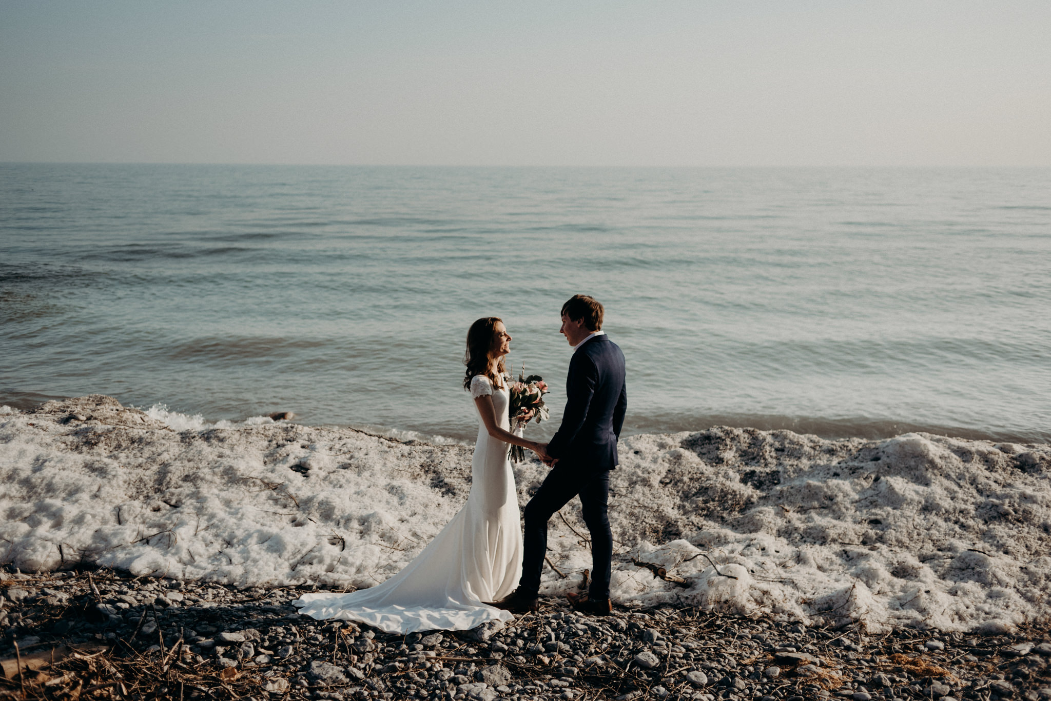 Winter elopement on Lake Ontario at Drake Devonshire