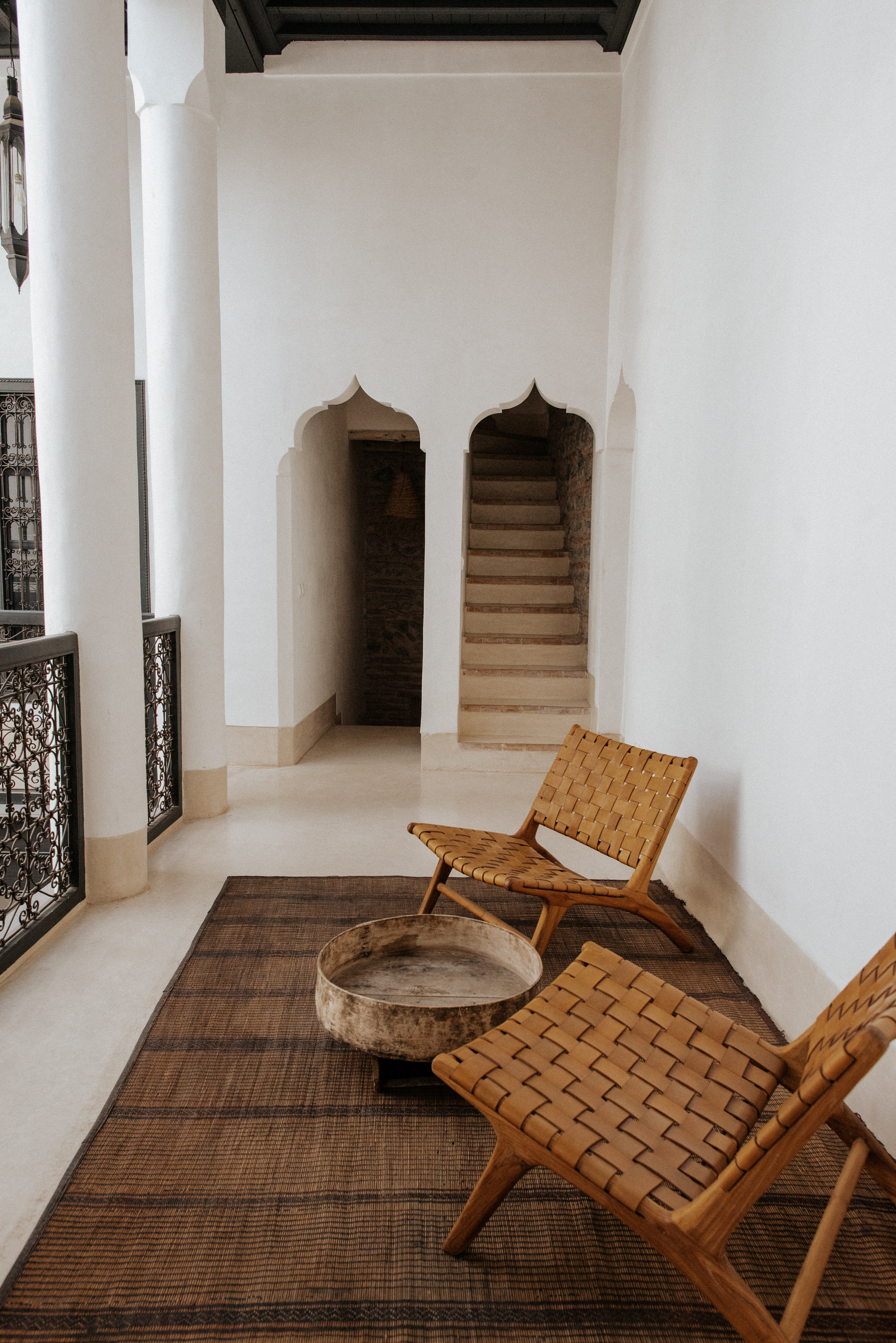 Minimalist interior at Riad 42 in Marrakech
