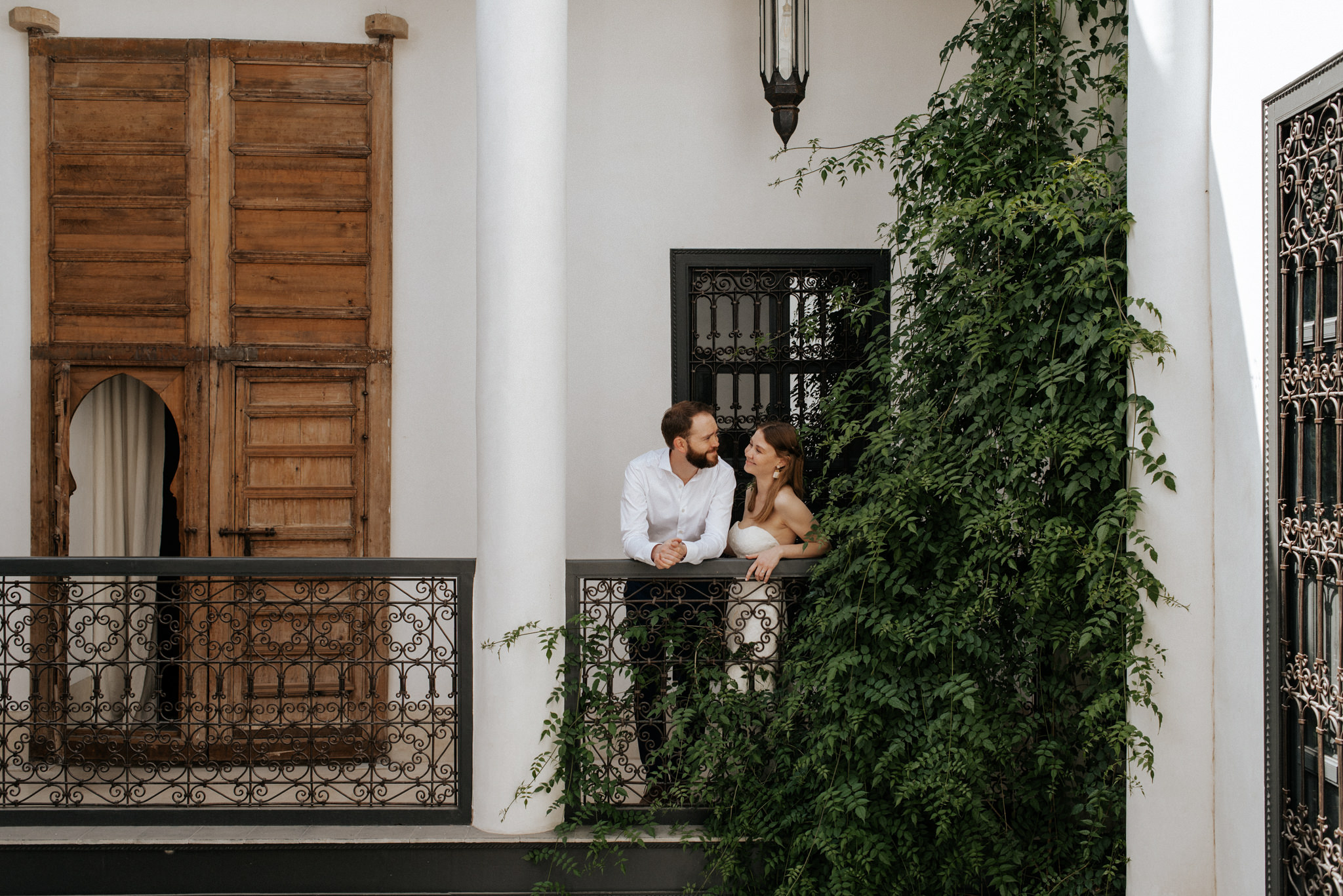 Morocco elopement portraits at Riad 42