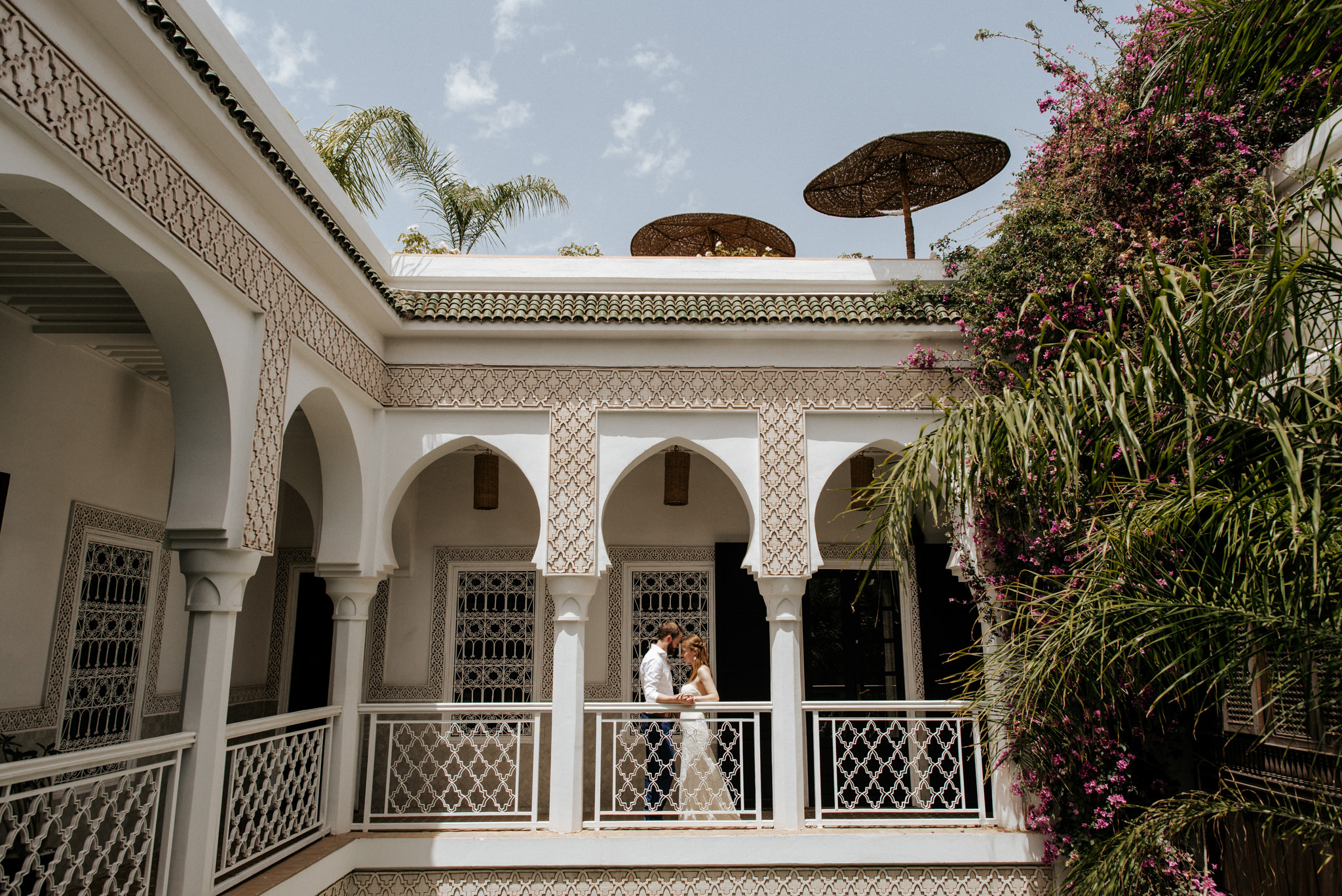 Wedding portraits at Le Riad Yasmine