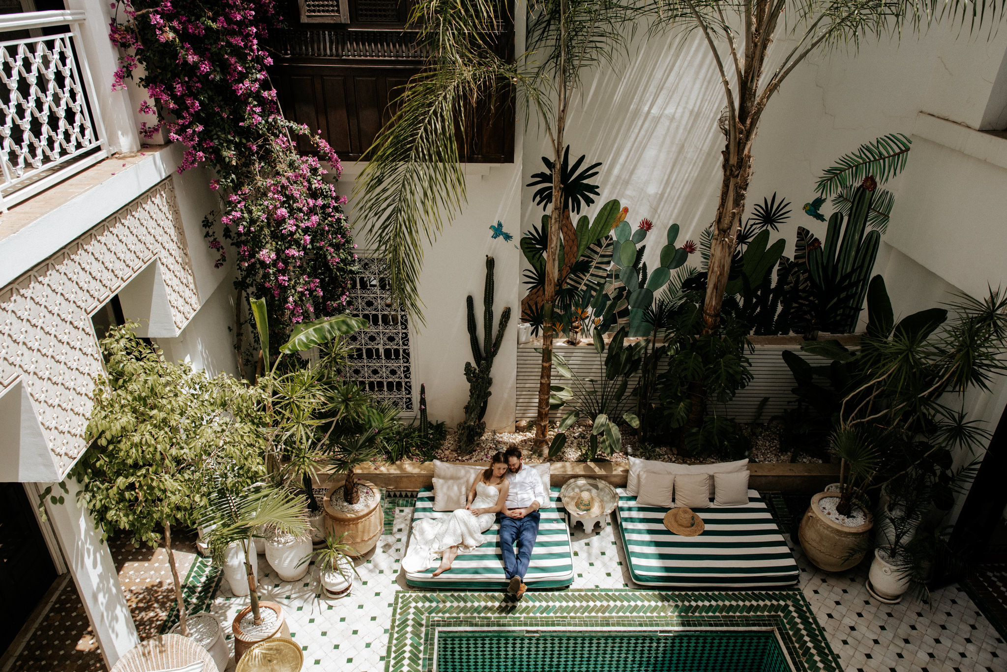 Dreamy wanderlust wedding portraits at Le Riad Yasmine