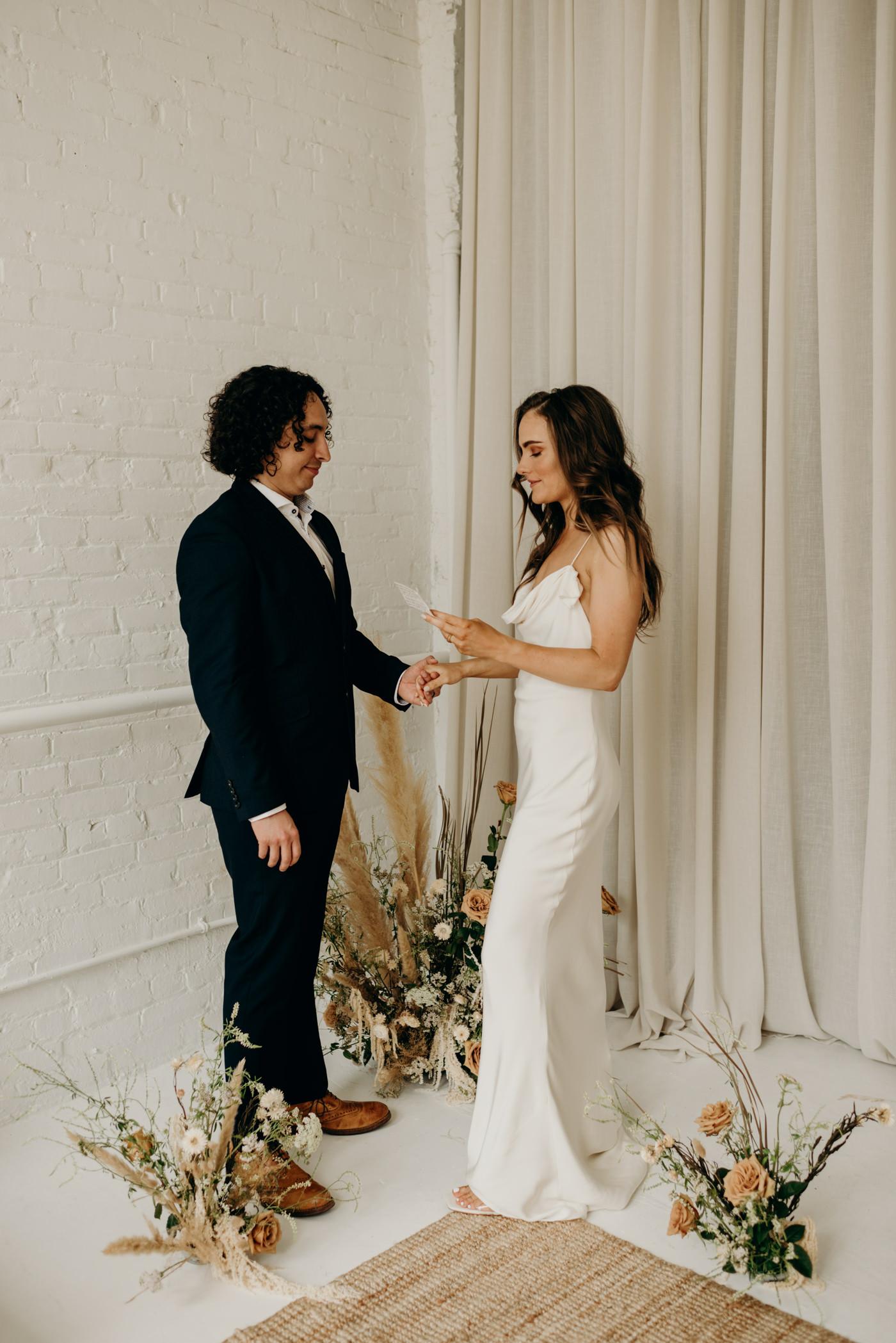 midcentury loft elopement in Toronto