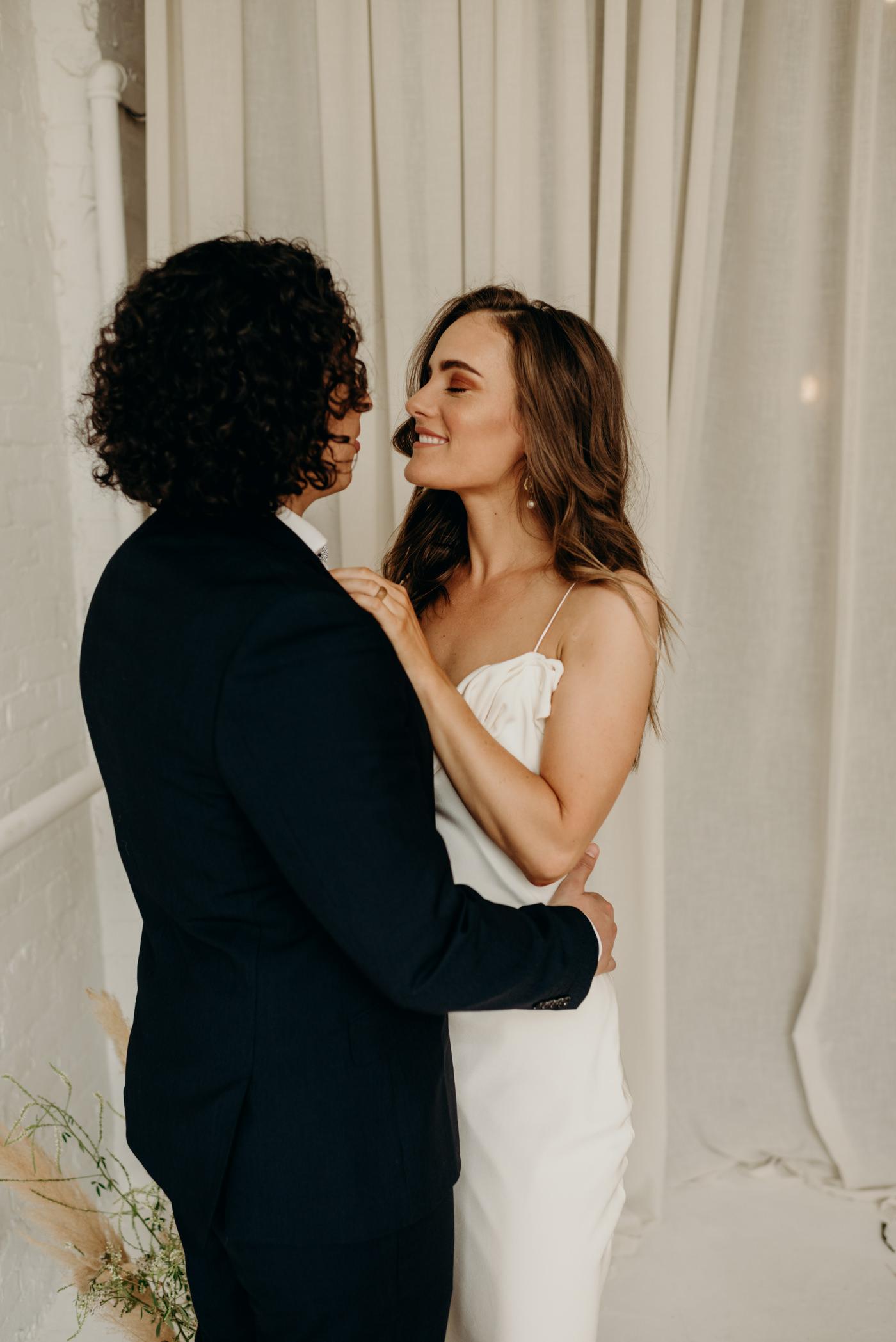midcentury loft elopement