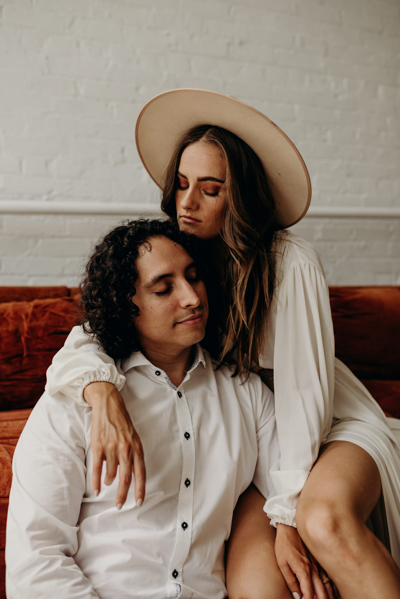 chill couple loft elopement