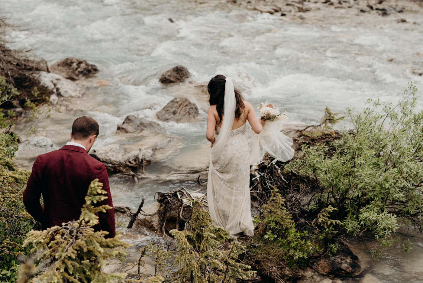 adventurous national park elopement in Canada