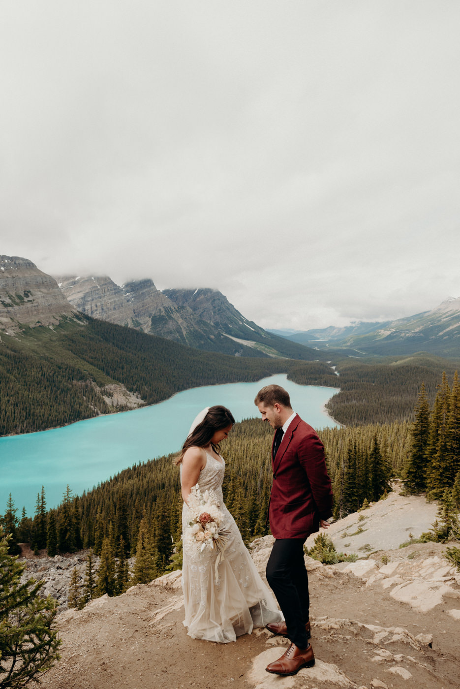 Peyto Lake elopement