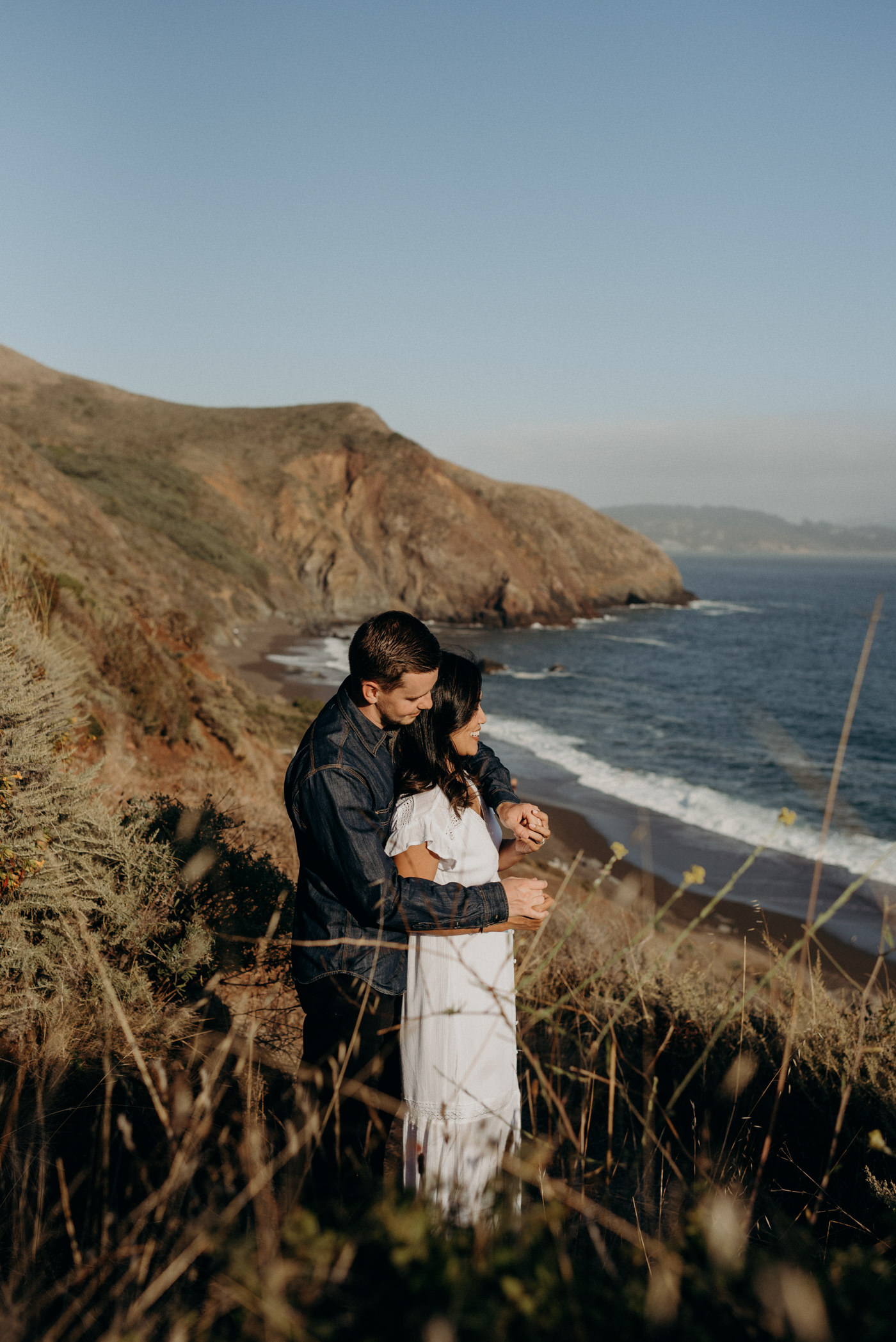 Marin headlands couple shoot
