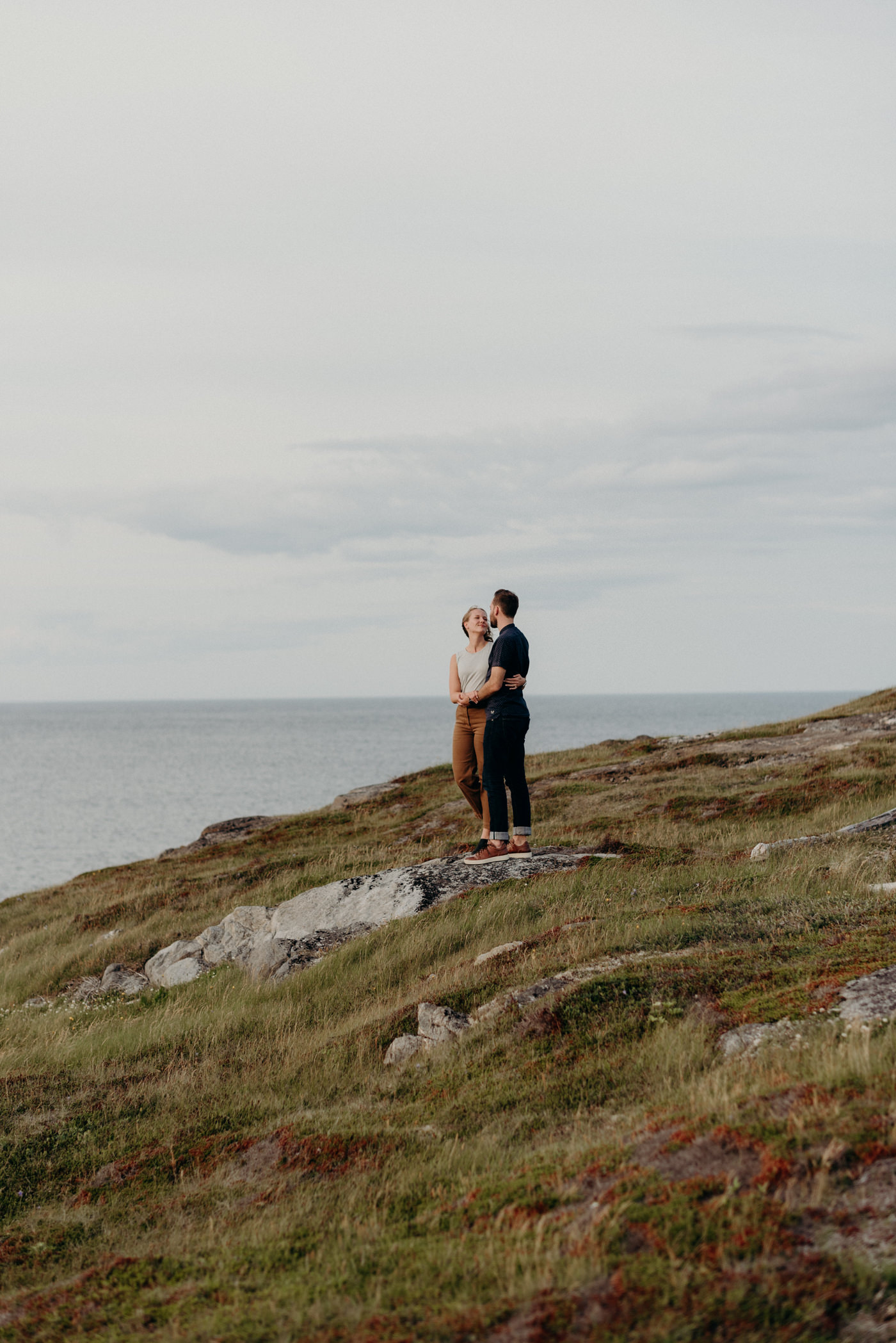 Couple shoot on Fogo Island