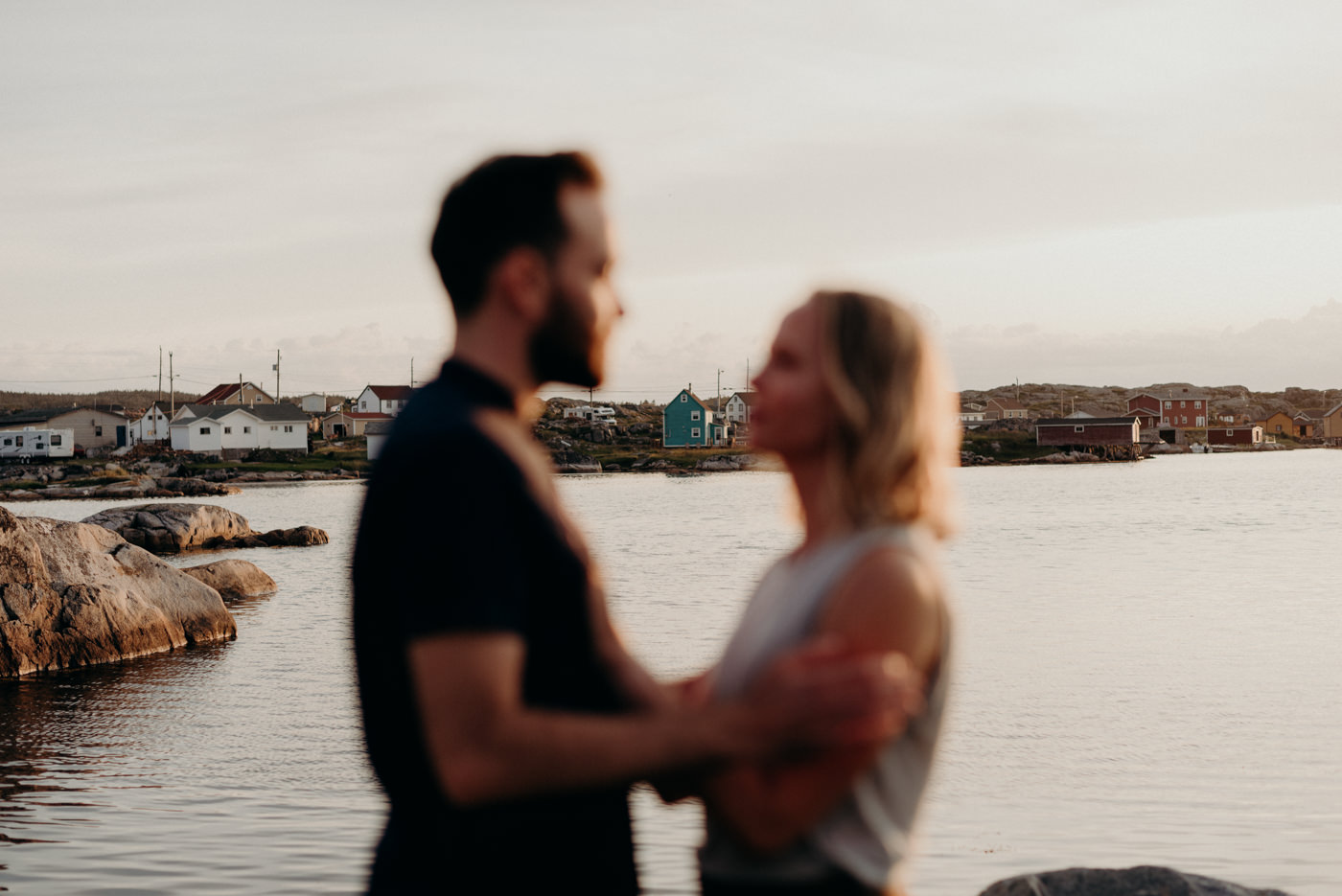 Sunset engagement in Newfoundland