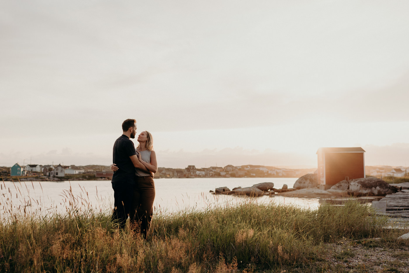 Sunset couple shoot in Tilting, Fogo Island