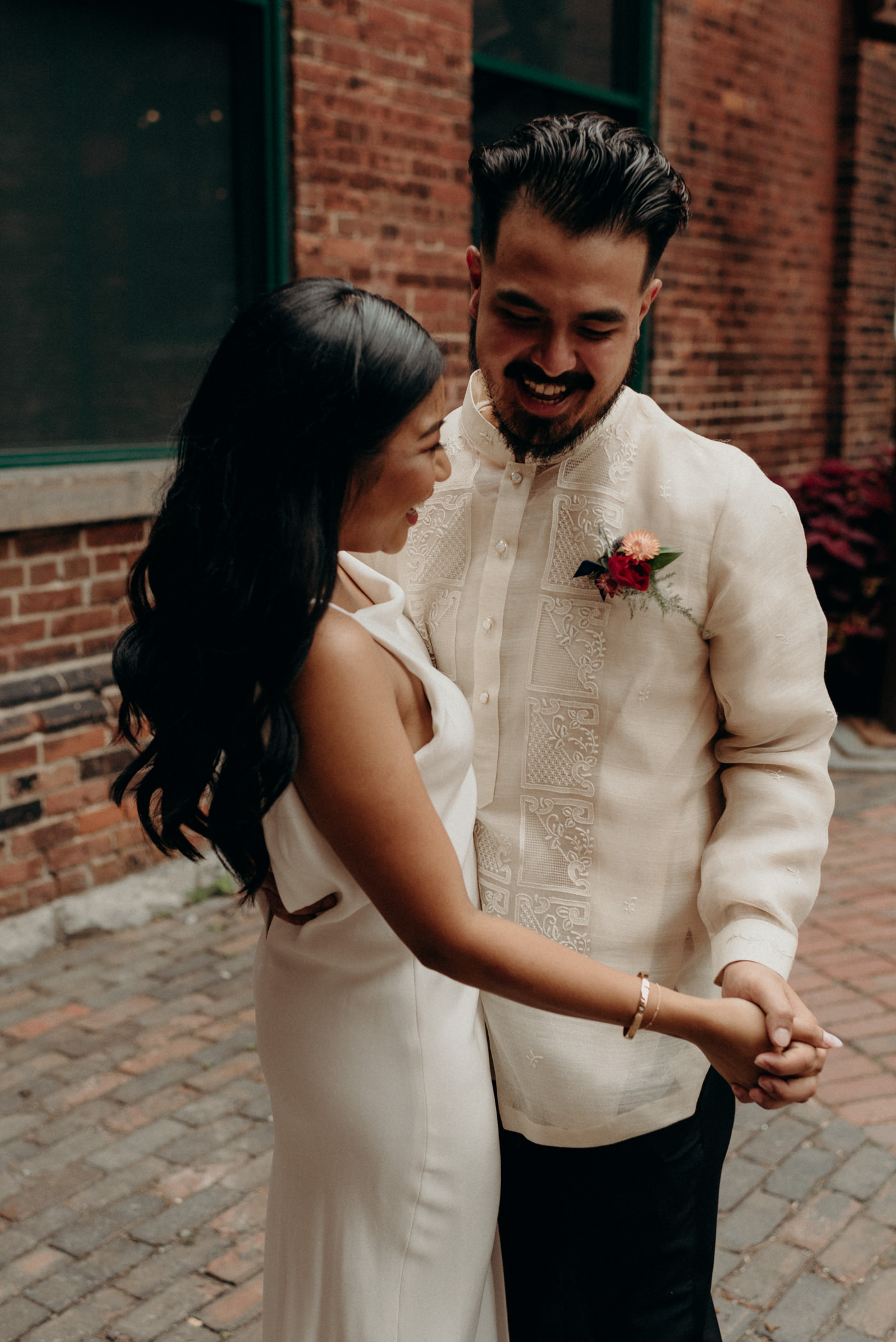 Distillery district wedding portraits