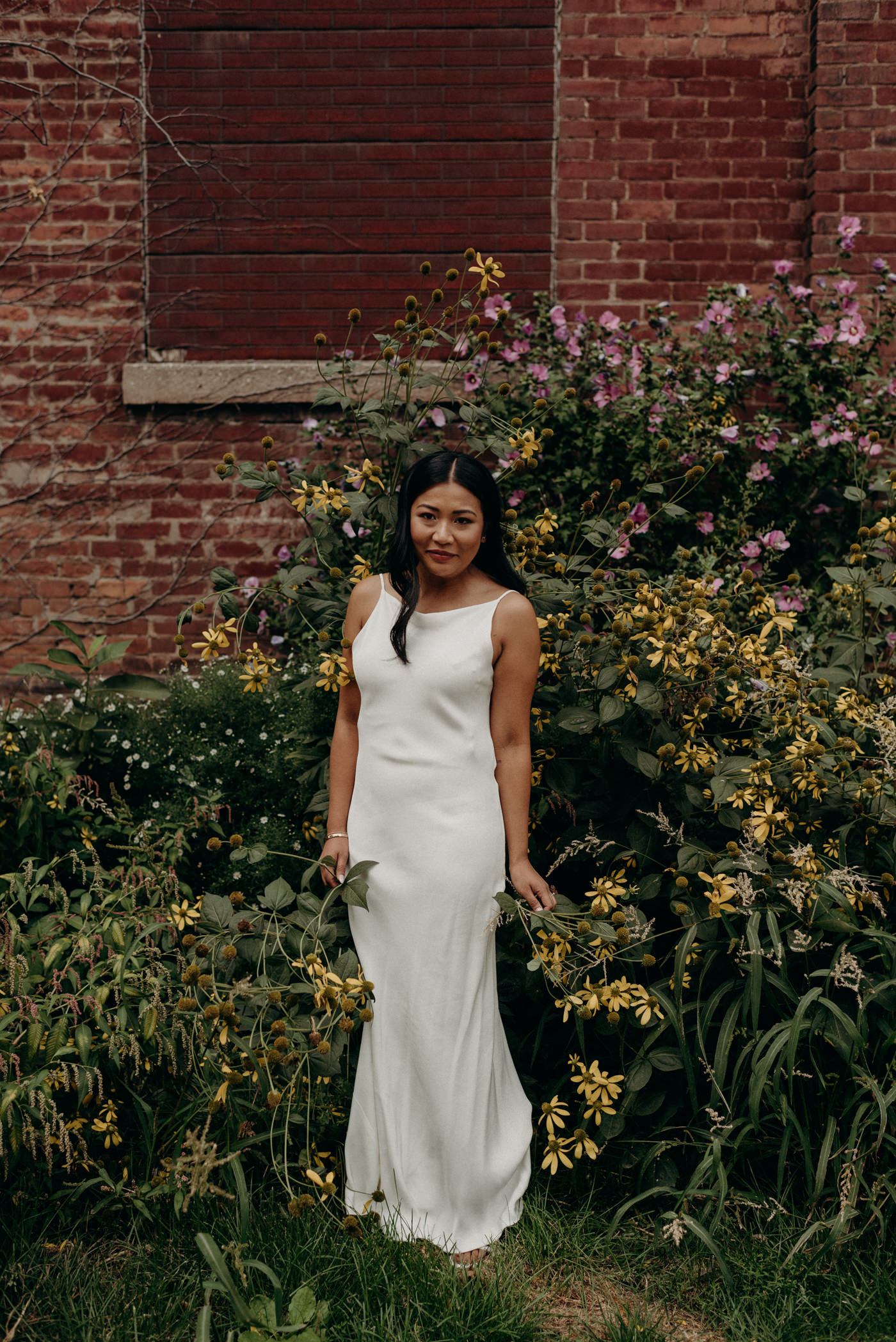 Toronto wedding portraits near Distillery District