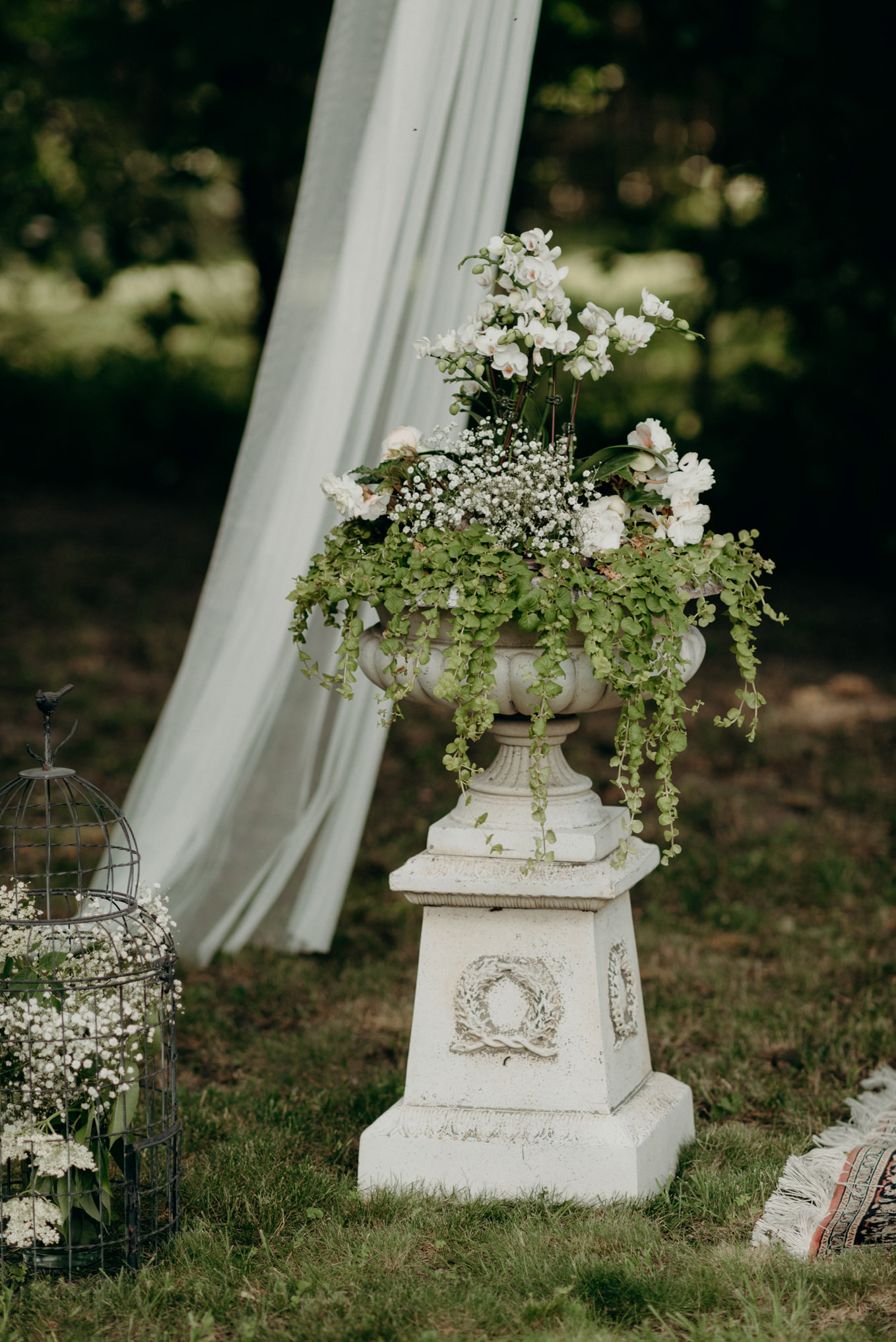 Backyard wedding florals