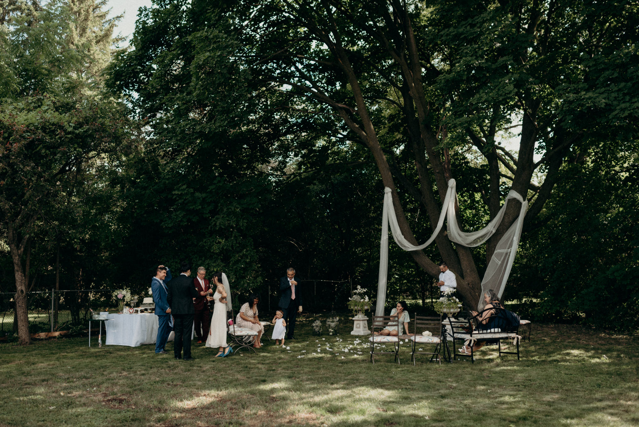 covid outdoor wedding