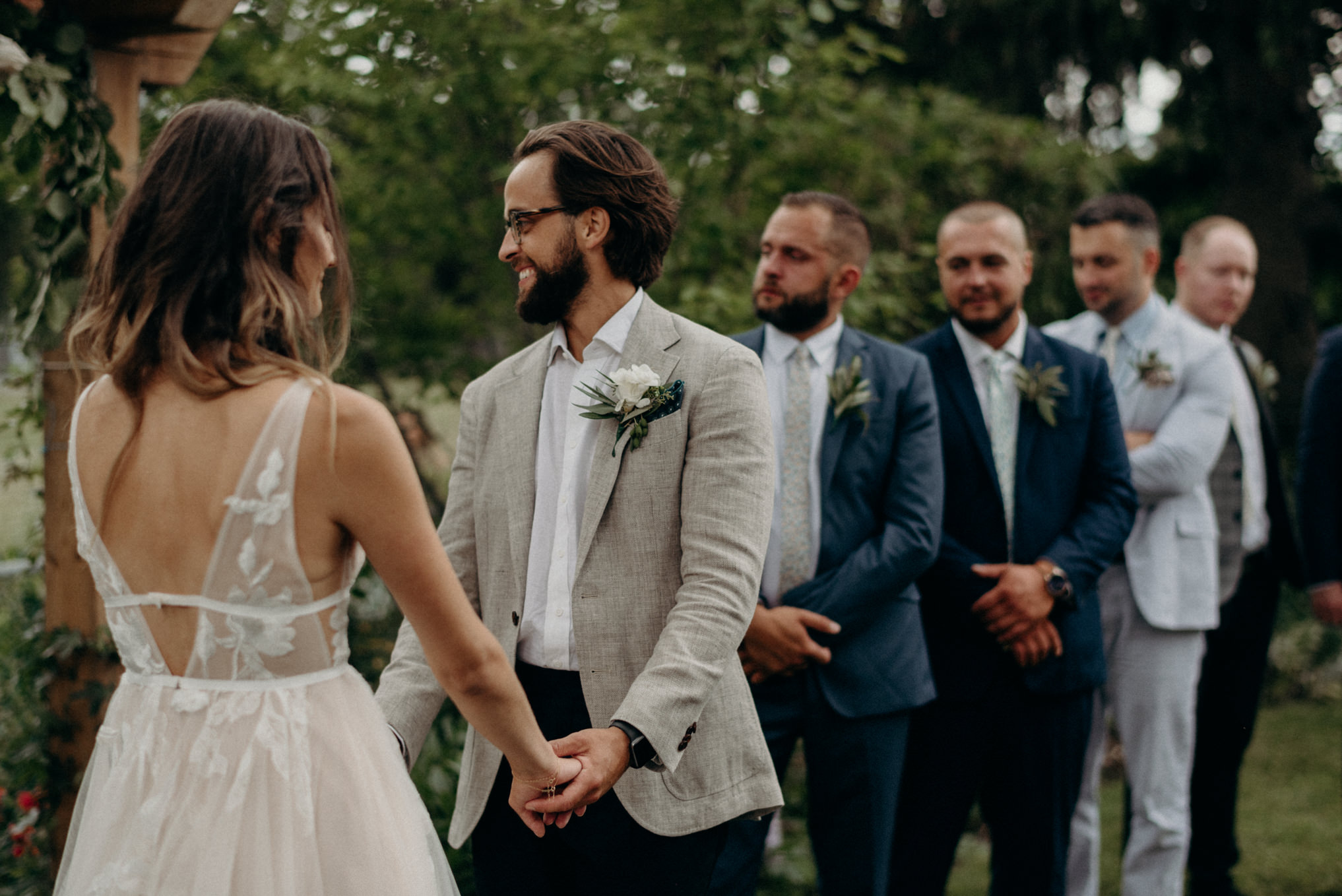 backyard wedding ceremony in Toronto