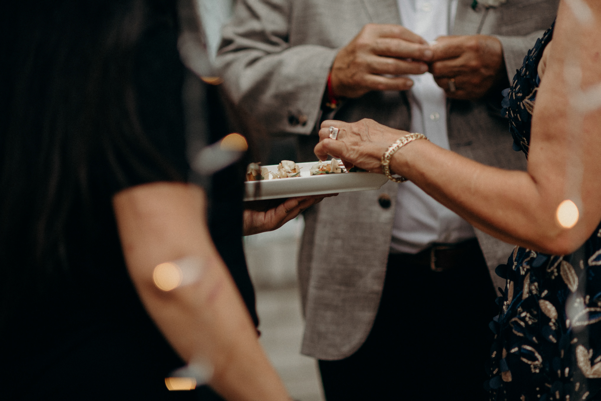 guests grabbing hors d'oeuvres