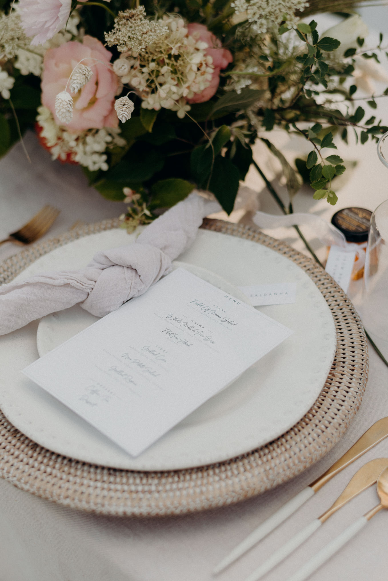 french countryside inspired wedding table setup
