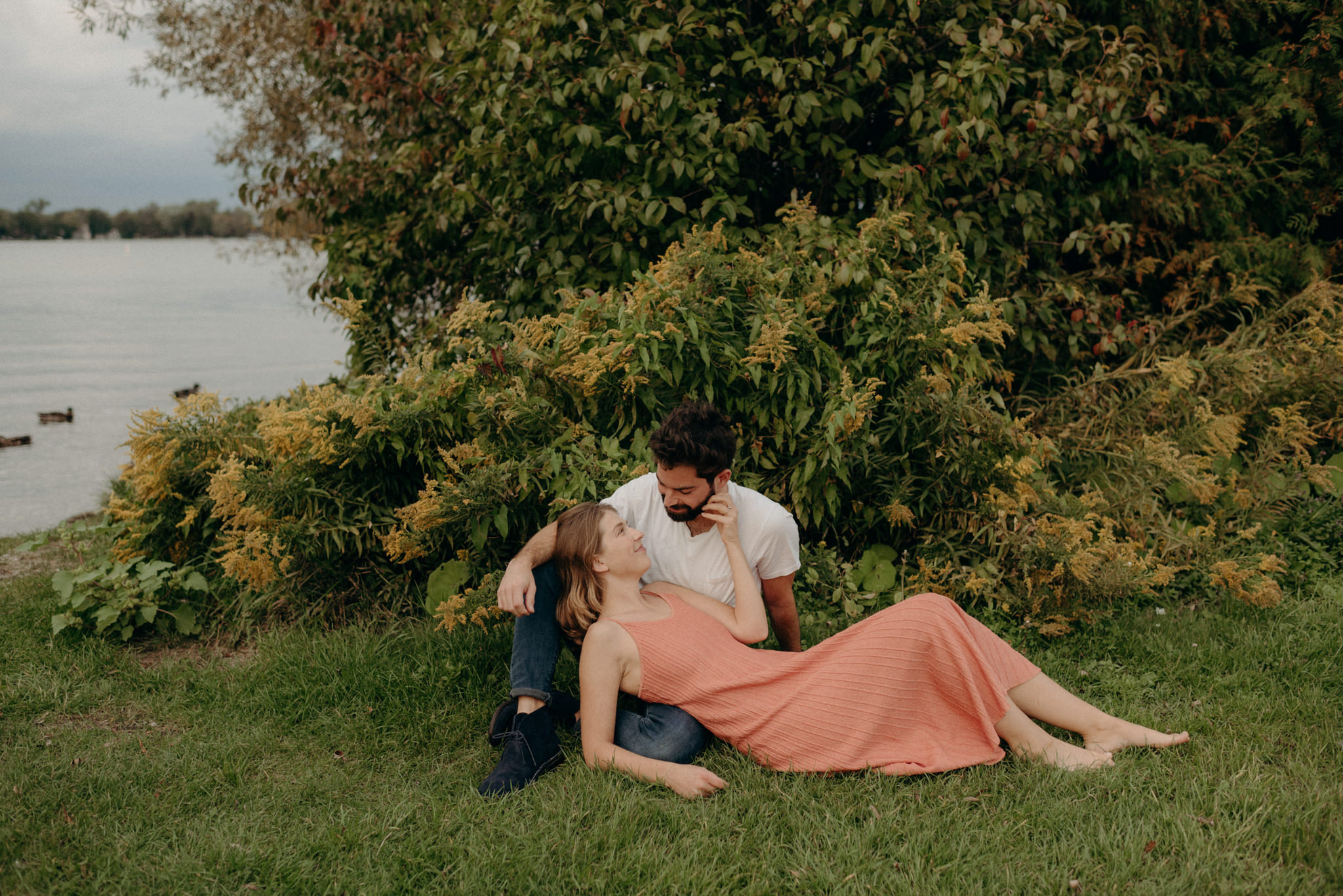 Innisfil engagement shoot by the water
