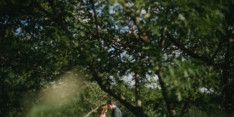 Adventurous camping Bon Echo engagement by Daring Wanderer