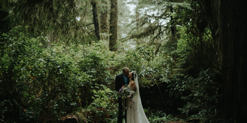 Dreamy Tofino elopement at Pacific Rim National Park by destination wedding photographer Daring Wanderer
