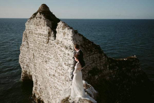 Etretat wedding portraits in Normandy