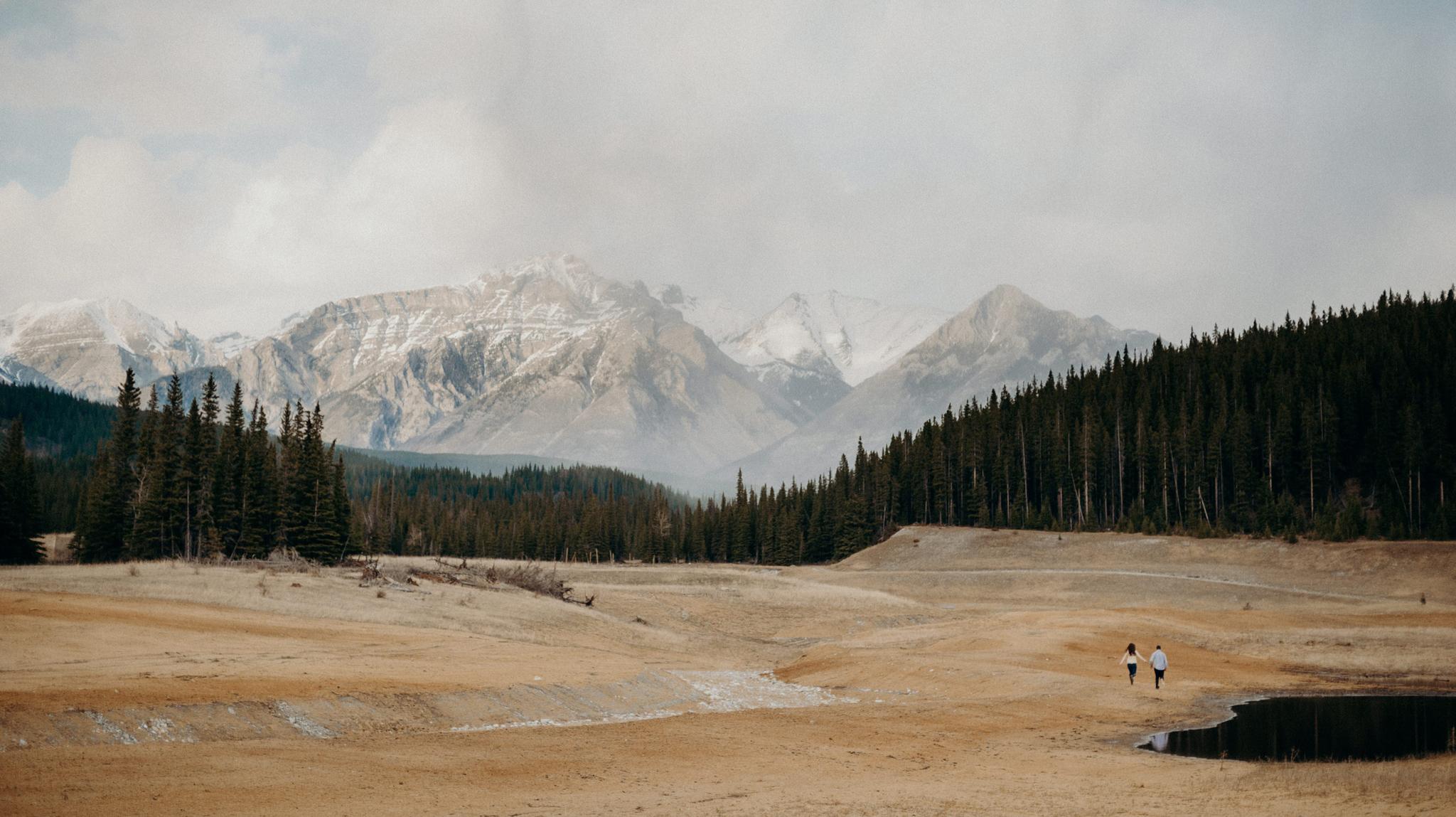Adventurous Banff Engagement Shoot