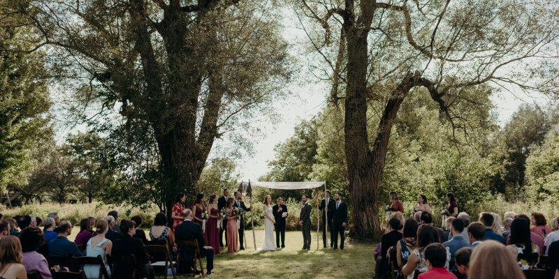 Waterloo Museum Wedding outside