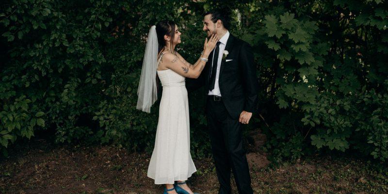 Pandemic backyard wedding